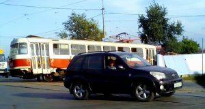 В Самаре трамвай сошел с рельс